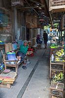 Yogyakarta, Java, Indonesia.  Street Scene in the Bird Market.