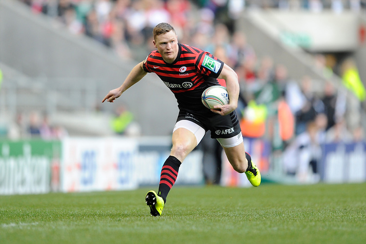 Chris Ashton of Saracens in action during the Heineken Cup quarter final match between Saracens and Ulster Rugby at Twickenham Stadium on Saturday 6th April 2013 (Photo by Rob Munro)