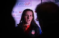 Columbus, Ohio - Thursday March 01, 2018: Tierna Davidson during a 2018 SheBelieves Cup match between the women's national teams of the United States (USA) and Germany (GER) at MAPFRE Stadium.