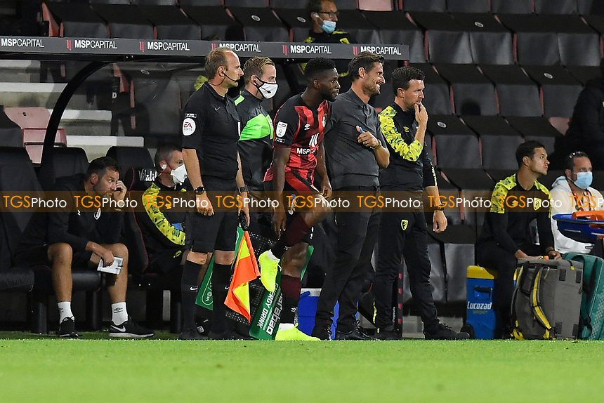 AFC Bournemouth Manager Jason Tindall prepares to bring on Jefferson Lerma of Bournemouth during AFC Bournemouth vs Crystal Palace, Carabao Cup Football at the Vitality Stadium on 15th September 2020