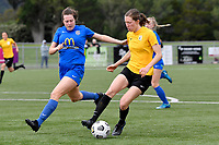 Kaley Ward of Capital during the Handa Women's Premiership - Capital Football v Southern United at Petone Memorial Park, Wellington on Saturday 7 November 2020.<br /> Copyright photo: Masanori Udagawa /  www.photosport.nz