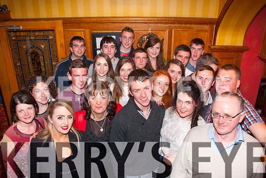 18th Bash<br /> ------------<br /> Gearóid Kelly,Knocknagoshel,centre,had a cracker celebrating his 18th birthday last Saturday night in the Riverisland hotel,Castleisland along with family&friends