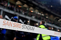 "A ribbon with the inscription ""San Siro stadium La scala del Calcio"" is seen ahead the Nations League League A group 3 football match between Italy and Portugal at stadio Giuseppe Meazza, Milano, November, 17, 2018 <br /> Foto Andrea Staccioli / Insidefoto"