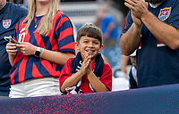 NASHVILLE, TN - SEPTEMBER 5: A fan cheers during a game between Canada and USMNT at Nissan Stadium on September 5, 2021 in Nashville, Tennessee.