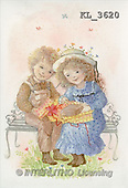 Interlitho, CHILDREN, nostalgic, paintings, boy, girl, gift(KL3620,#K#) Kinder, niños, nostalgisch, nostálgico, illustrations, pinturas