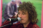 """Stuart Cable (Ex Stereophonics drummer) undertaking a question and answer session with members of the public inside Swansea Central Library today, to help publicise the """"Happy Days"""" campaign which demonstrates how libraries can make you happy. .The campaign is running all over Wales.."""