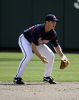 March 27, 2004:  Nick Green of the Atlanta Braves organization during Spring Training at Wide World of Sports in Orlando, FL.  Photo copyright Mike Janes/Four Seam Images