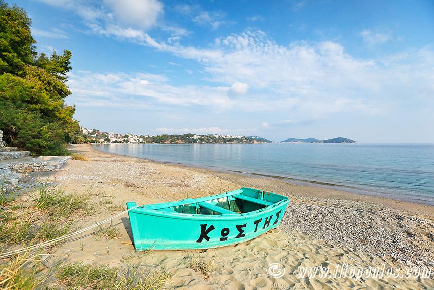 The beach Ftelia of Skiathos island, Greece