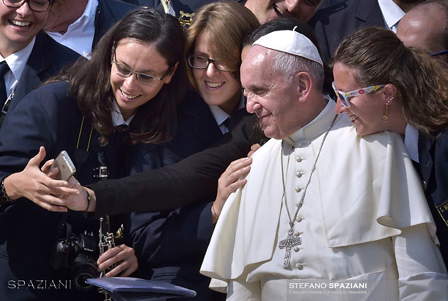 Pope Francis during Jubilee Audience at St Peter's square in Vatican. on September 10, 2016.