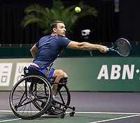 Rotterdam, The Netherlands, 6 march  2021, ABNAMRO World Tennis Tournament, Ahoy,  Semi final wheelchair: Joachim Gerard (BEL).<br /> Photo: www.tennisimages.com/