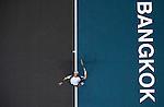BANGKOK, THAILAND - SEPTEMBER 30:  Fernando Verdasco of Spain serves against Benjamin Becker of Germany during the Day 6 of the PTT Thailand Open at Impact Arena on September 30, 2010 in Bangkok, Thailand. Photo by Victor Fraile / The Power of Sport Images