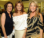 From left: Evi Katz, Vardi Dror and Stacey Summers at a private shopping party in celebration of Sex and the City 2 and benefitting the Rose Ribbon Foundation at Tootsie's Wednesday May 26,2010.  (Dave Rossman Photo)