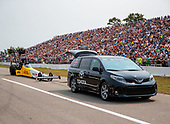 Richie Crampton, DHL, top fuel, Sienna, support vehicle