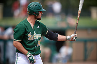 USF Bulls first baseman Joe Genord (20) at bat during a game against the Dartmouth Big Green on March 17, 2019 at USF Baseball Stadium in Tampa, Florida.  USF defeated Dartmouth 4-1.  (Mike Janes/Four Seam Images)