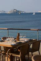 Europe/France/Provence-Alpes-Côte d'Azur/13/Bouches-du-Rhône/Marseille: Terrasse du Restaurant  Péron Corniche Kennedy