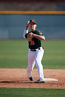 Dorian Gonzalez Jr. during the Under Armour All-America Pre-Season Tournament, powered by Baseball Factory, on January 19, 2019 at Sloan Park in Mesa, Arizona.  Dorian Gonzalez Jr. is shortstop / second baseman from Miami, Florida who attends Belen Jesuit High School.  (Mike Janes/Four Seam Images)