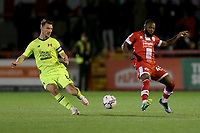 Craig Clay of Leyton Orient and Mark Marshall of Crawley Town during Crawley Town vs Leyton Orient, Papa John's Trophy Football at The People's Pension Stadium on 5th October 2021