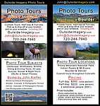 John Kieffer, through his website OutsideImagery.com, offers a wide range of photo services. <br /> Photo tours, lectures and instruction.