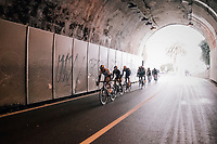 peloton in yet another tunnel<br /> <br /> 109th Milano-Sanremo 2018<br /> Milano > Sanremo (291km)