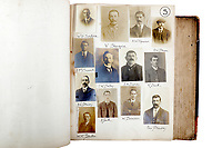 BNPS.co.uk (01202) 558833<br /> Pic: ChiswickAuctions/BNPS<br /> <br /> The London Peaky Blinders<br /> <br /> A collection of remarkably rare Victorian mugshots used by police to identify London's gangs has emerged for sale more than 120 years later.<br /> <br /> The photographic album compiled between 1895 and 1916 has portraits of hundreds of men known to forces in south and east London.<br /> <br /> Dressed in sharp suits and caps reminiscent of the Peaky Blinders, it is thought many were involved in organised crime and racketeering.