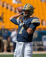Pitt quarterback Thomas MacVittie. The Pitt Panthers defeated the Villanova Wildcats 28-7 at Heinz Field, Pittsburgh, Pennsylvania on September 3, 2016.