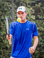 Hilversum, Netherlands, August 8, 2018, National Junior Championships, NJK, Stijn Pel (NED)<br /> Photo: Tennisimages/Henk Koster