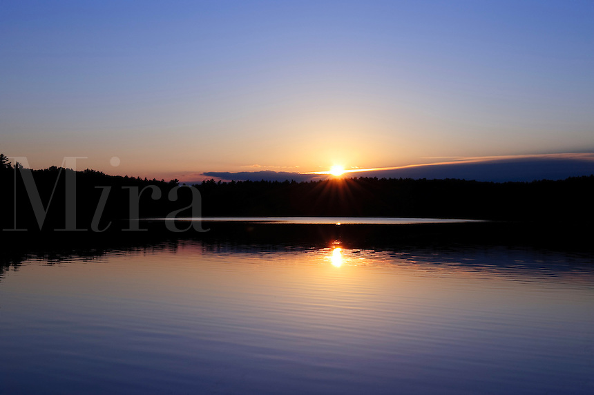 Sunset on Walden Pond, Concord, MA, made famous by Henry David Thoreau