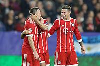 l-r:  of  Franck Ribery #7 (FC Bayern Muenchen), Thiago Alcantara #6 (FC Bayern Muenchen), James Rodriguez #11 (FC Bayern Muenchen)   1:2, FC Sevilla vs. FC Bayern Muenchen, Football,   Champions League, 03.04.2018 *** Local Caption *** © pixathlon<br /> Contact: +49-40-22 63 02 60 , info@pixathlon.de