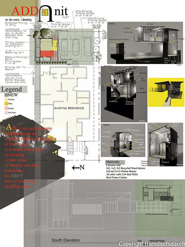 Professional Entry. Frank Bell, Architect.