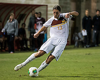 The Winthrop University Eagles played the College of Charleston Cougars at Eagles Field in Rock Hill, SC.  College of Charleston broke the 1-1 tie with a goal in the 88th minute to win 2-1.  Adam Brundle (12)
