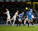 Jason Holt heads Rangers into the lead as he bullets the ball past keeper Mark Brown