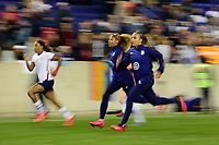 HARRISON, NJ - MARCH 08: Jessica McDonald #22, Casey Short #20, and Mallory Pugh #2 of the United States during a game between Spain and USWNT at Red Bull Arena on March 08, 2020 in Harrison, New Jersey.