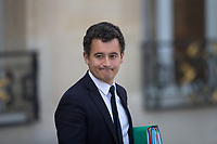 French Minister of Public Action and Accounts Gerald Darmanin leaves the Elysee presidential palace following the weekly cabinet meeting on Wednesday, 28 June 2017 in Paris # CONSEIL DES MINISTRES DU 28/06/2017