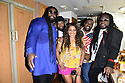 """MIRAMAR, FL - JULY 04: ( L-R) Roy """"Gramps"""" Morgan, Peter """"Peetah"""" Morgan, and Memmalatel """"Mr. Mojo"""" Morgan of Morgan Heritage and Commissioner Maxwell B. Chambers (3rd from L) pose backstage during the 4th Of July Independence Day Concert and Fireworks Display at Miramar Regional Park Amphitheater on July 4, 2021 in Miramar, Florida.   ( Photo by Johnny Louis / jlnphotography.com )"""