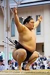 Goeido, <br /> APRIL 17, 2017 - Sumo : Yasukuni Shrine Honozumo is a ceremonial annual sumo tournament held in the precincts of the Yasukuni Shrine in Tokyo, Japan. (Photo by Yohei Osada/AFLO SPORT)