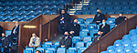 15.05.2021 Rangers v Aberdeen: SPFL'S Neil Doncaster and Murdoch MacLennan watching on from the directors box