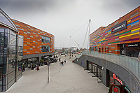 Pictured: Friars Walk shopping centre in Newport, Wales, UK. Thursday 14 February 209<br /> Re: The city of Newport is preparing to host the FA Cup match between Newport County and Manchester City at Rodney Parade, Newport, Wales, UK.