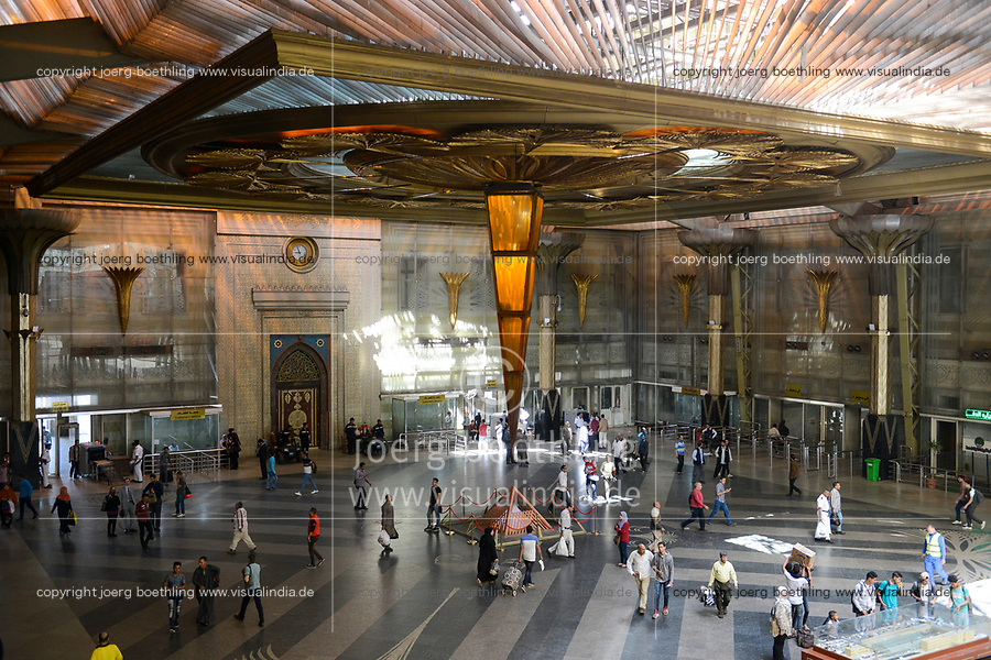 EGYPT, Cairo, Ramses central railway station, entrance hall / ÄGYPTEN, Kairo, Ramses Hauptbahnhof, Eingangshalle