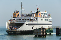 """Steamship Authority ferry """"MV Woods Hole"""" to Martha's Vineyard prepares to dock at the Oak Bluffs ferry terminal after arriving from the mainland."""