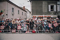 waiting for the riders to parade by in the start town of Saint-Girons<br /> <br /> 104th Tour de France 2017<br /> Stage 13 - Saint-Girons › Foix (100km)