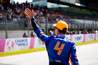 July 3rd 2021; F1 Grand Prix of Austria, qualifying sessions;  NORRIS Lando (gbr), McLaren MCL35M, celebrates 2nd on pole during the  2021 Austrian Grand Prix, 9th round of the 2021 FIA Formula One World Championship -