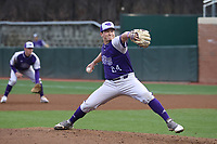 CHAPEL HILL, NC - FEBRUARY 19: Parks Ledwell #24 of High Point University pitches the ball during a game between High Point and North Carolina at Boshamer Stadium on February 19, 2020 in Chapel Hill, North Carolina.