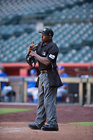 Home plate umpire Malachi Moore during an Instructional League game between the Arizona Diamondbacks and the Kansas City Royals at Chase Field on October 14, 2017 in Phoenix, Arizona. (Zachary Lucy/Four Seam Images)