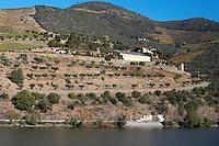 douro river and steep vineyards quinta dona matilde douro portugal
