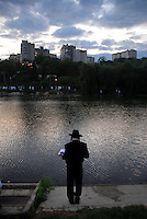 UKRAINE, Uman, 2008/09..Hasidic Jews from around the world gather in the quiet Ukrainian city of Uman to mark the Jewish New Year at the tomb of their spiritual leader, Rabbi Nachman of Breslov. Rosh Hashanah is a time for personal introspection and prayer..© Cyril Horiszny / EST&OST