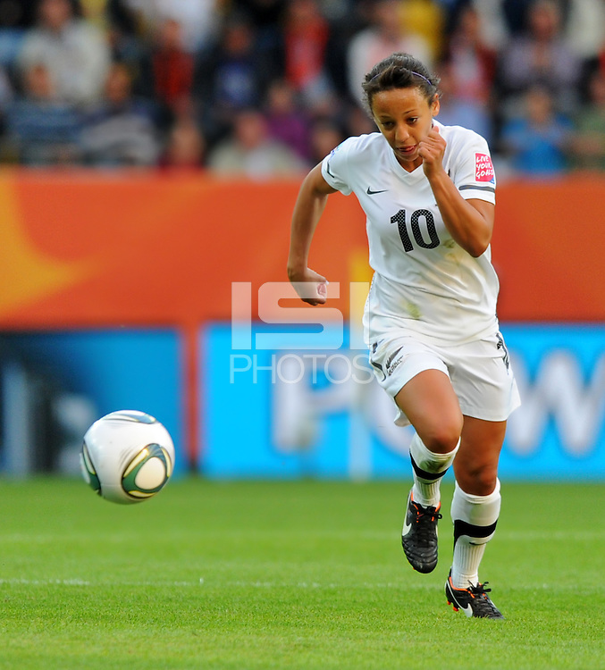 Sarah Gregorius of team New Zealand during the FIFA Women's World Cup at the FIFA Stadium in Dresden, Germany on July 1st, 2011.