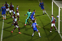 Colchester go close to an early goal during Colchester United vs West Ham United Under-21, EFL Trophy Football at the JobServe Community Stadium on 29th September 2020