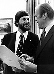 Ron Bennett with President Ford in Oval office White House, President Gerald Ford, Ron Bennett Photojournalsit, RTB,