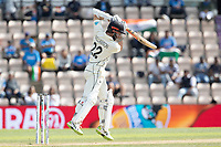 Kane Williamson, New Zealand punches into the off side during India vs New Zealand, ICC World Test Championship Final Cricket at The Hampshire Bowl on 23rd June 2021