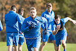 St Johnstone Training….28.10.16<br />David Wotherspoon pictured during training this morning at McDiarmid Park ahead of tomorrow's game against Partick Thistle.<br />Picture by Graeme Hart.<br />Copyright Perthshire Picture Agency<br />Tel: 01738 623350  Mobile: 07990 594431